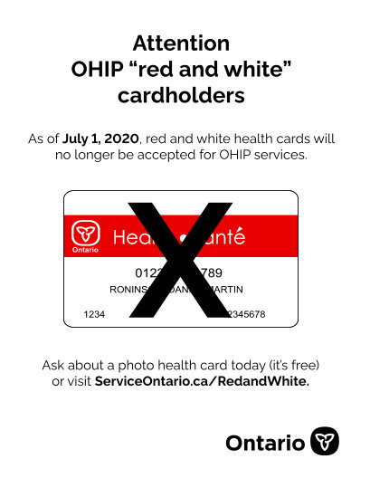 OHIP Red and white cardholders